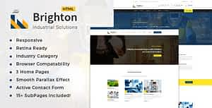 Brighton-Industry – Factory & Industrial Business Template