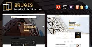 Bruges – Architecture and Interior Design HTML Template