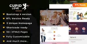 CUPID LOVE – Dating Website HTML5 Template