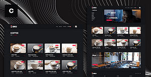 Cafex is a beautifully clean and contemporary Coffee Shop Theme script