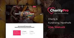 Charity Pro – Responsive HTML Template for Fund Raising