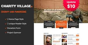 Charity Village – Responsive HTML Template for Fund Raising