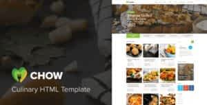 Chow – Recipes & Food Blog HTML Template