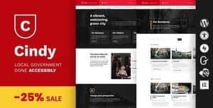Cindy – Accessible Local Government WordPress Theme