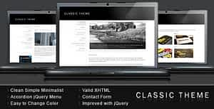 Classic Theme – Simple Clean Minimalist Template