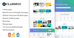 Classifly – Classified Ads HTML Template