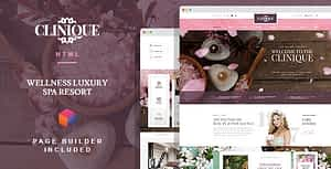 Clinique – Wellness Luxury Spa Resort HTML template with Builder
