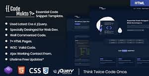 Code Mukto – Essential Code Snippet HTML5 Template.