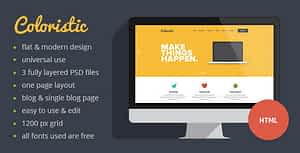 Coloristic – Flat OnePage Responsive Template