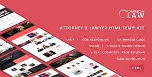 Common Law – Attorney & Lawyer HTML Template