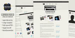 Download Free Condensed – HTML Template