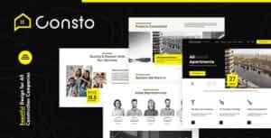 Consto   Industrial Construction Company HTML Template