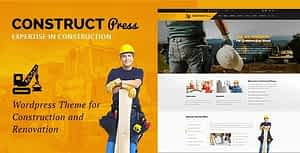 Construct Press – Construction and Renovation WordPress Theme