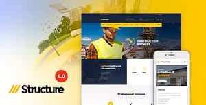 Construction Industrial Factory WordPress Theme – Structure