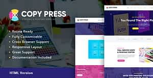 CopyPress | Type Design & Printing Services HTML Template