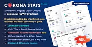 Corona Stats – COVID-19 Coronavirus Live Stats & Widgets for WordPress