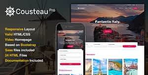 Cousteau Pro – The Travel Site Template