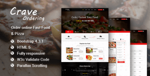 Crave Ordering – Order Online Fast Food & Pizza Template