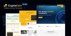 CryptoCoin – Crypto Currency HTML Template