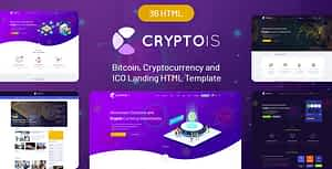 Cryptois – Bitcoin, Cryptocurrency and ICO Landing HTML Template