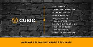 Cubic – One Page Creative Website Template