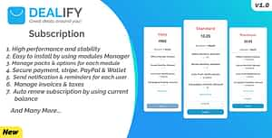 Dealify Subscription – PayPal, Stripe & Billing Manager