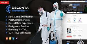 Deconta – Sanitation, Disinfection and Pest Control HTML Template