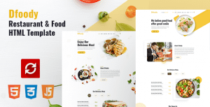 Dfoody – Restaurant HTML5 Template with RTL Support