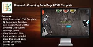 Diamond – Coming Soon Page HTML Template