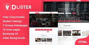 Dlister – Directory Listing HTML Template