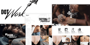 Dotwork – Tattoo Studio and Piercing Shop Theme