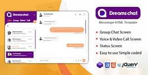 DreamsChat – Chat and Messenger HTML Template