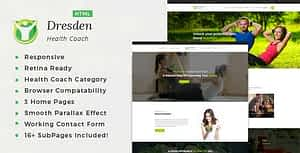 Dresden – HTML Template for Personal Life Coaching Website