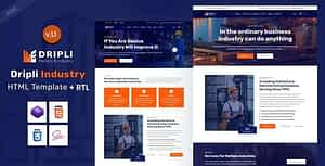 Dripli – Factory & Industry HTML Template