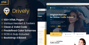 Drively – online driving school HTML template