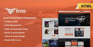 Drona | Aerial Photography & Video Html Template