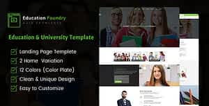 Education Foundry – Academy & Training Courses HTML5 Template