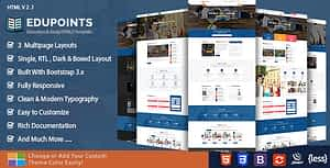 Education Points HTML Template
