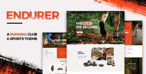 Endurer – Running Club and Sports Theme