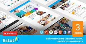 Estut | Education WordPress Theme – Material Design – Online Course E-Learning – eCommerce