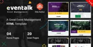EvntTalk – Event & Conference HTML Template