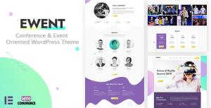 Ewent – Conference & Event Oriented WordPress Theme