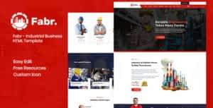 Fabr – Industrial Business HTML Template