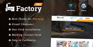 Factory – Industrial / Construction / Factory Responsive WordPress Theme