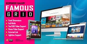 Famous – Responsive Image And Video Grid Gallery