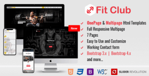 Fitness – Responsive HTML Template