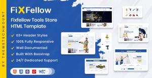 Fixfellow – Tools Store eCommerce HTML Template