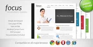 Focus – Simple One Page Template 2