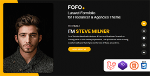 Fofo – Laravel Formfolio for Freelancer & Agencies Theme