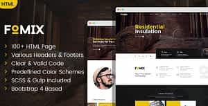 Fomix – House Insulation & Energy Efficiency HTML template